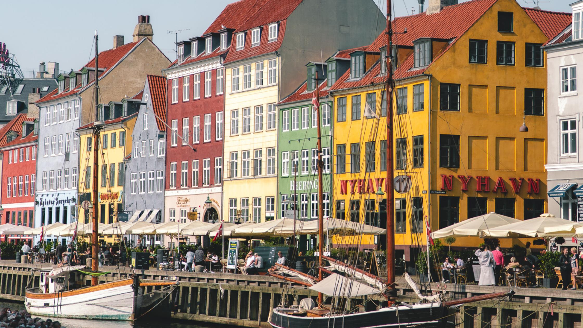 Nyhavn, a popular harbour in Copenhagen