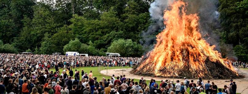 Sankt Hans bonfire in Denmark